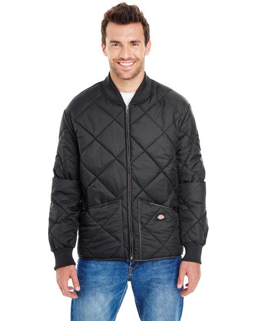 Dickies Unisex Diamond Quilted Nylon Jacket - Black
