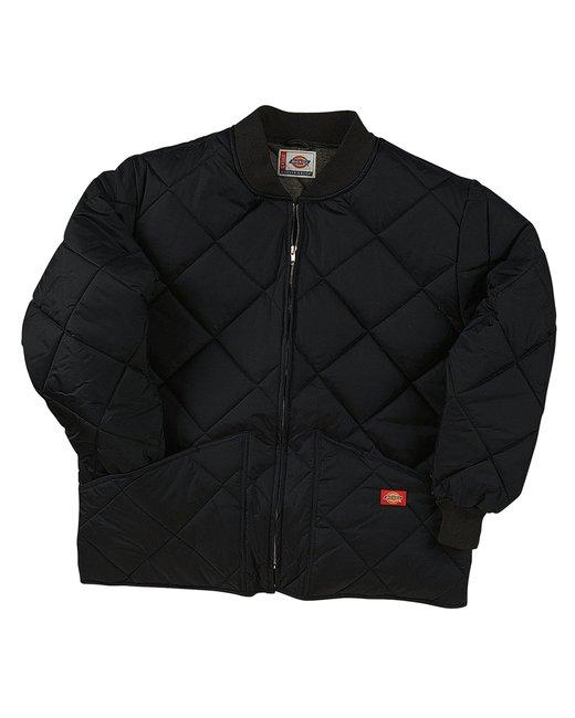 Dickies Diamond Quilted Nylon Jacket - Black