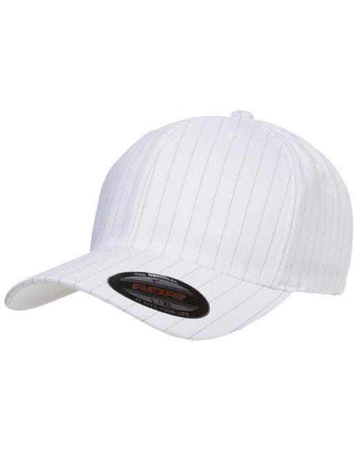 Yupoong Flexfit Pinstripe Cap - White/Black