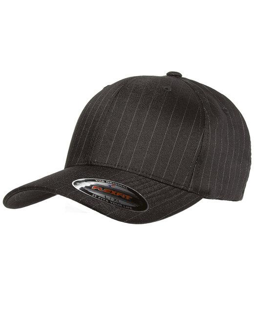 Yupoong Flexfit Pinstripe Cap - Black/White