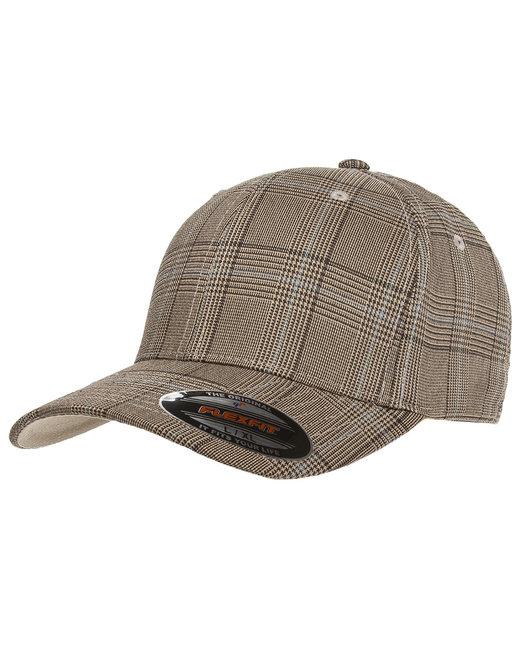 Yupoong Flexfit Glen Check Cap - Brown/Khaki