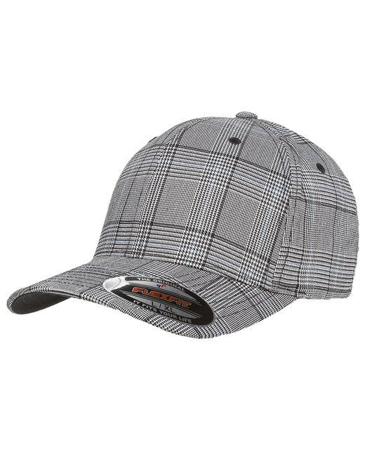 Yupoong Flexfit Glen Check Cap - Black/White