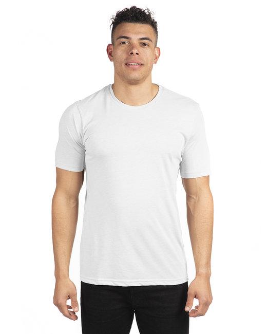 Next Level Unisex Poly/Cotton Crew - White