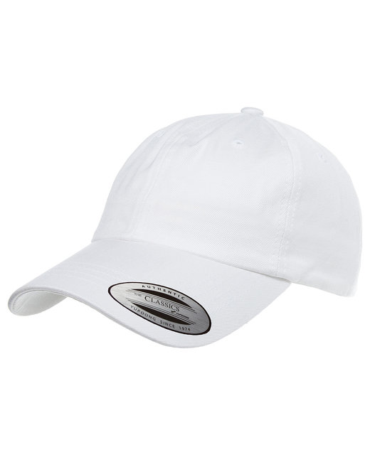 Yupoong Adult Low-Profile Cotton Twill Dad Cap - White