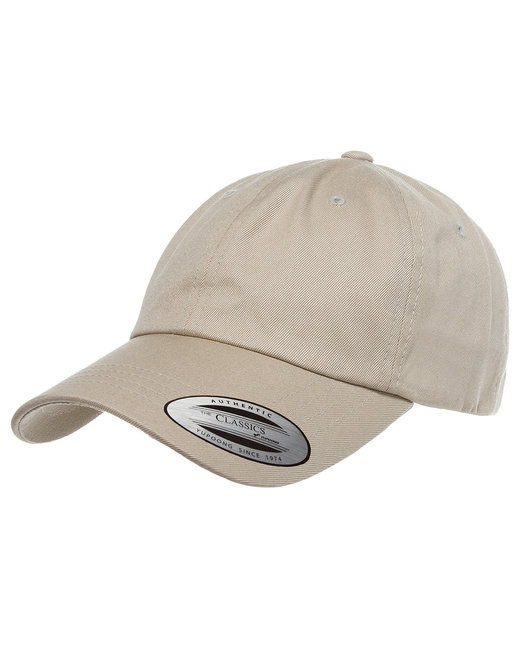 Yupoong Adult Low-Profile Cotton Twill Dad Cap - Khaki
