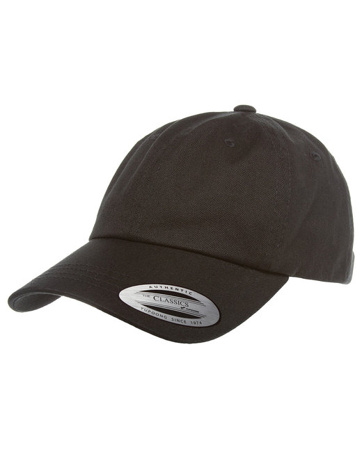 Yupoong Adult Low-Profile Cotton Twill Dad Cap - Black