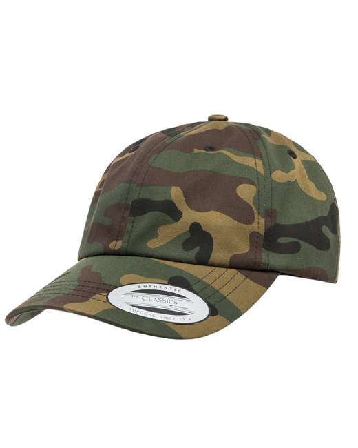 Yupoong Adult Low-Profile Cotton Twill Dad Cap - Green Camo