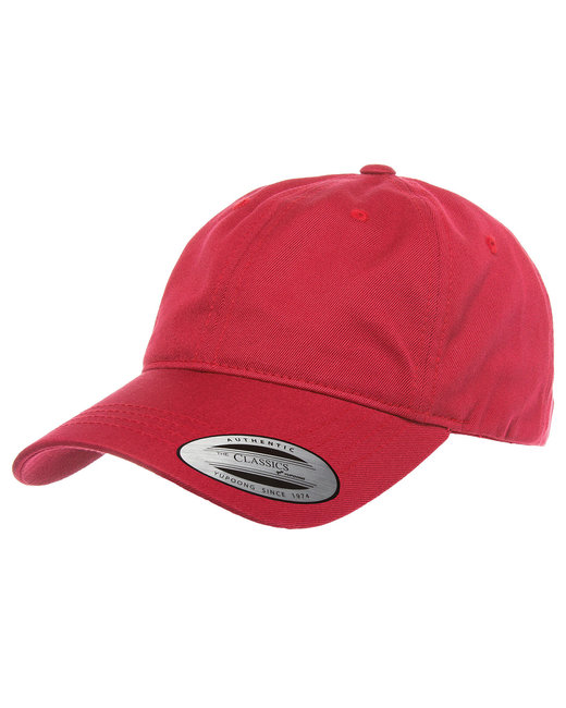 Yupoong Adult Low-Profile Cotton Twill Dad Cap - Cranberry