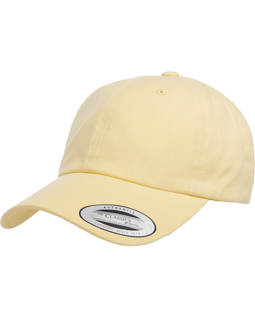 Yupoong Adult Peached Cotton Twill Dad Cap - Yellow