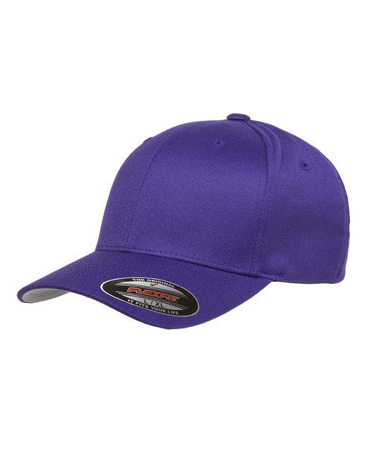 Flexfit Adult Wooly 6-Panel Cap - Purple