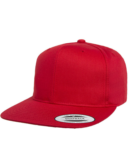 Yupoong Pro-Style Cotton Twill Snapback - Red