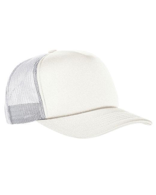 Yupoong Adult Classics™Curved Visor Foam Trucker Cap - White