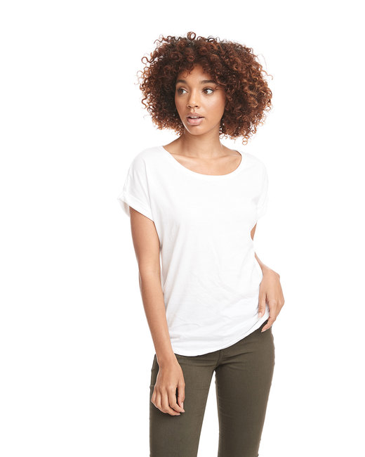 Next Level Ladies' Dolman with RolledSleeves - White