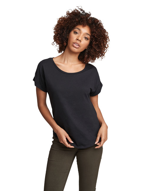 Next Level Ladies' Dolman with Rolled�Sleeves - Black