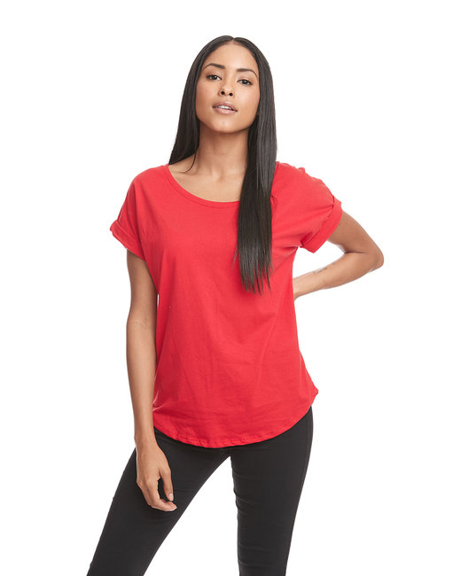 Next Level Ladies' Dolman with RolledSleeves - Red