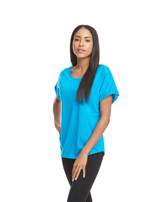 Next Level Ladies' Dolman with RolledSleeves - Turquoise