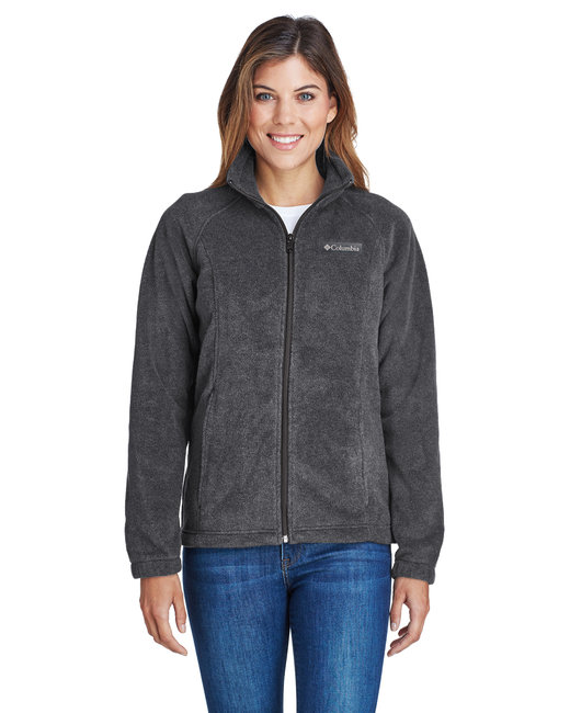 Columbia Ladies' Benton Springs™ Full-Zip Fleece - Charcoal Hthr