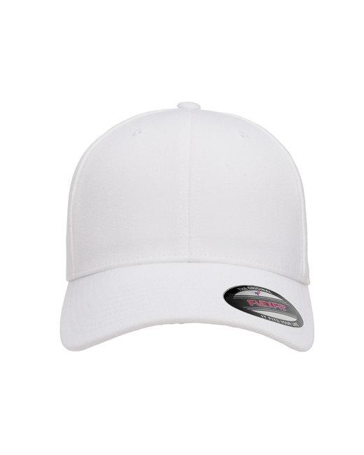 Flexfit Adult Wool Blend Cap - White