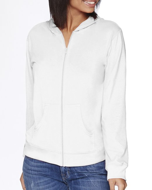 Next Level Adult Sueded Full-Zip Hoody - White
