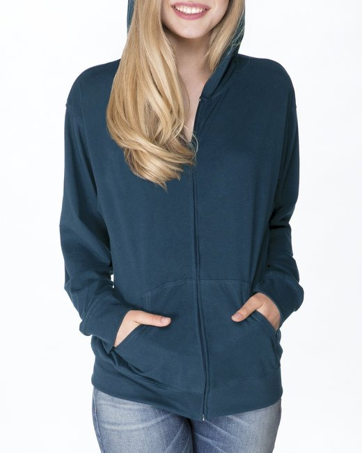 Next Level Adult Sueded Full-Zip Hoody - Cool Blue