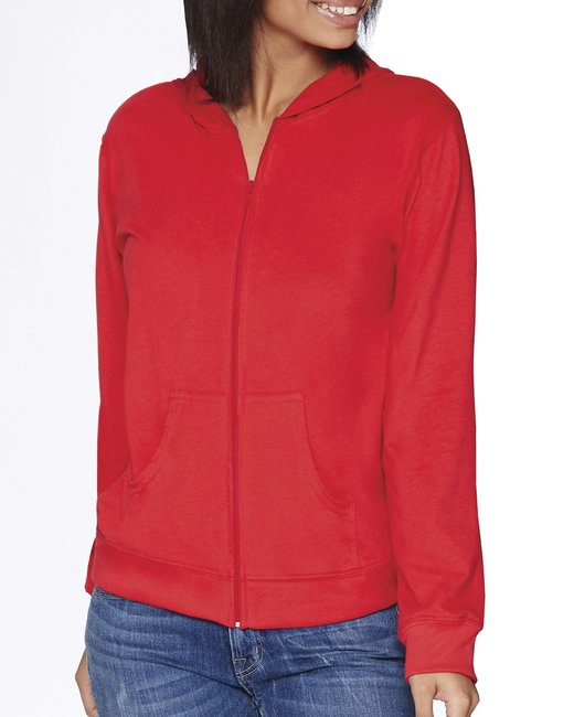 Next Level Adult Sueded Full-Zip Hoody - Red