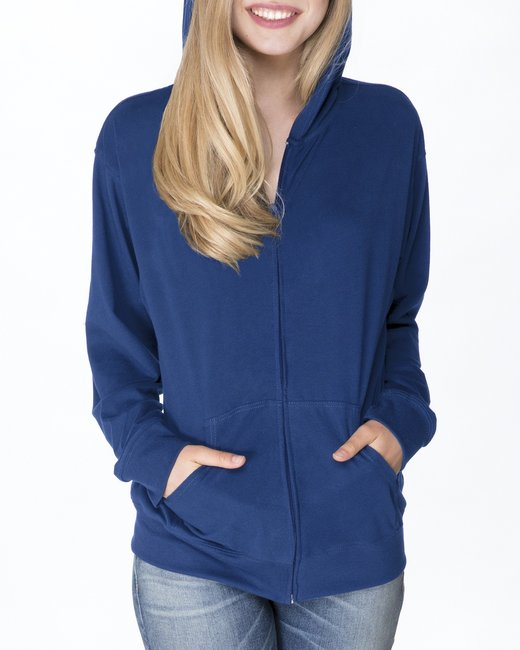 Next Level Adult Sueded Full-Zip Hoody - Royal