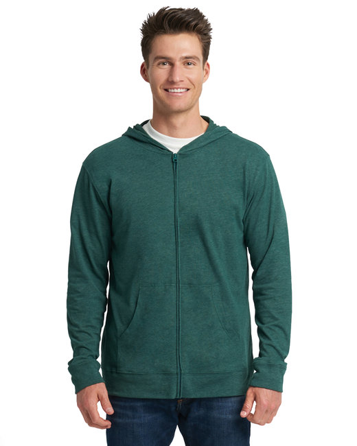 Next Level Adult Sueded Full-Zip Hoody - Hthr Forest Grn