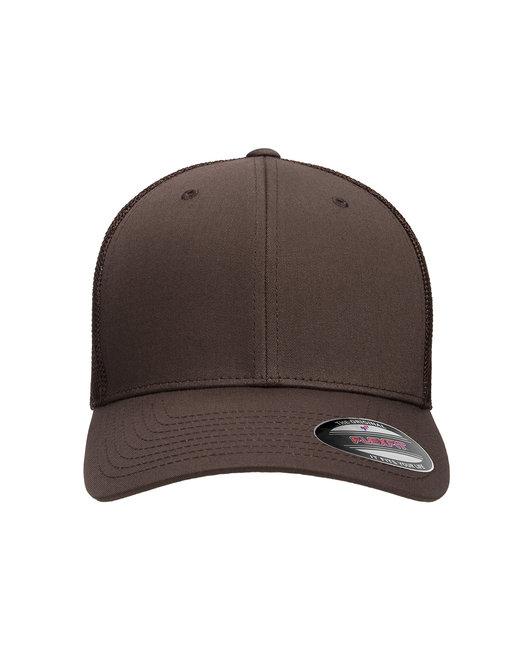 Flexfit Adult 6-Panel Trucker Cap - Brown