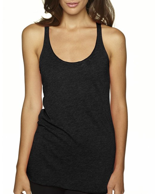 Next Level Ladies' Triblend Racerback Tank - Vintage Black