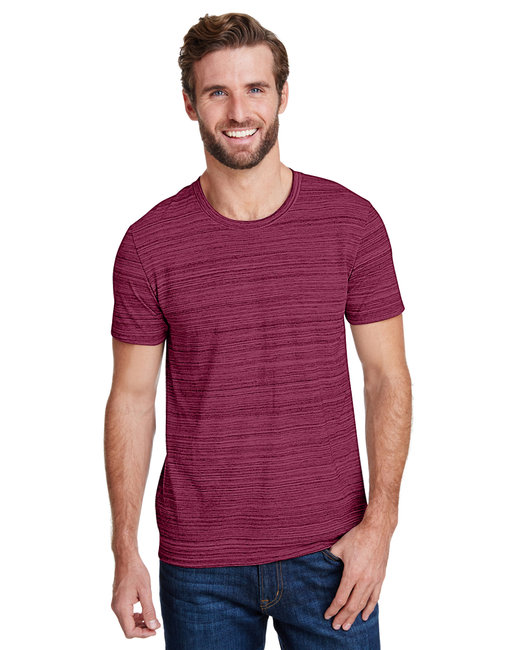 Anvil Adult Streak T-Shirt - Id Maroon