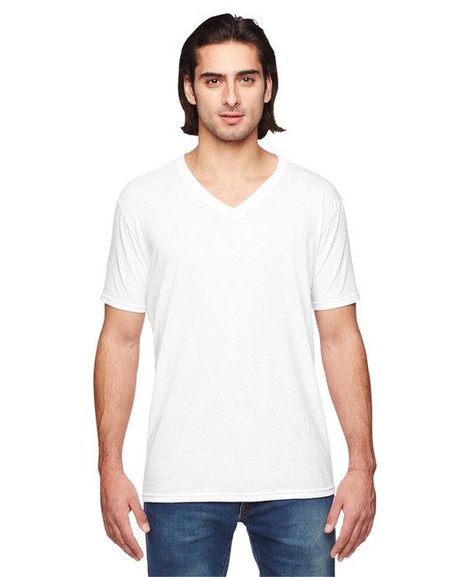 Anvil Adult Triblend V-Neck T-Shirt - White