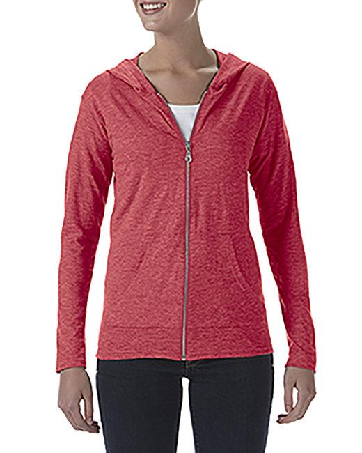 Anvil Ladies' Triblend Full-Zip Jacket - Heather Red