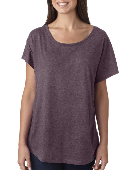 Next Level Ladies' Triblend Dolman - Vintage Purple