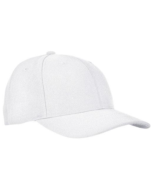 Yupoong Premium Curved Visor Snapback - White