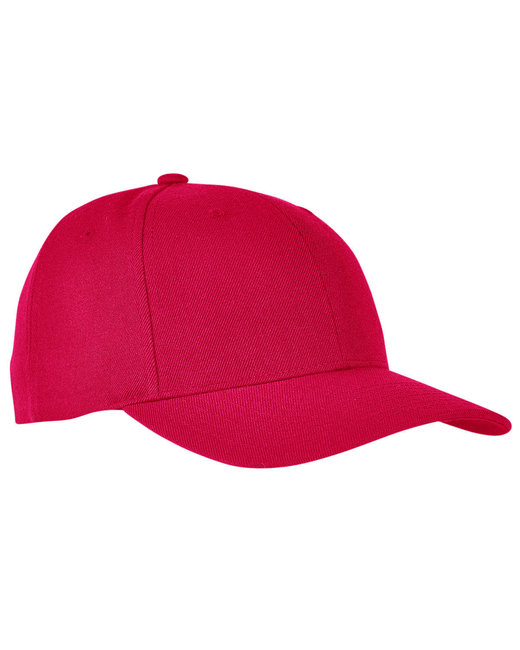 Yupoong Premium Curved Visor Snapback - Red