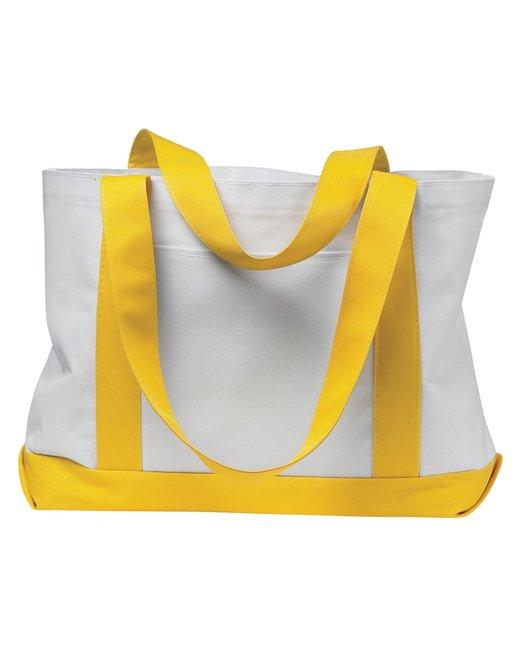 Liberty Bags P & O Cruiser Tote - White/ Yellow