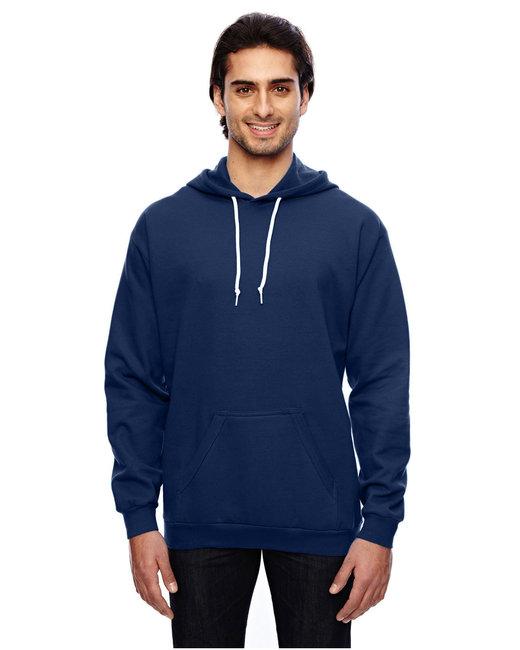 Anvil Adult Pullover Hooded Fleece - Navy