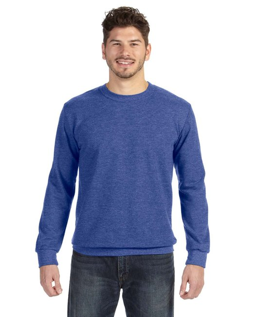Anvil Adult Crewneck French Terry - Heather Blue