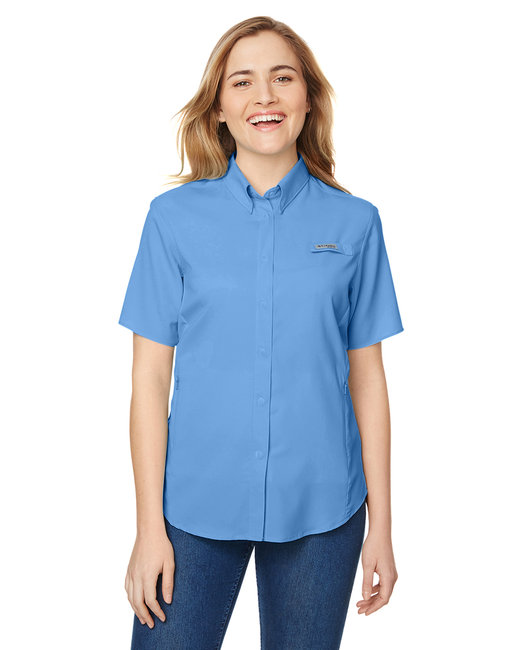 Columbia Ladies' Tamiami� II Short-Sleeve Shirt - White Cap Blue