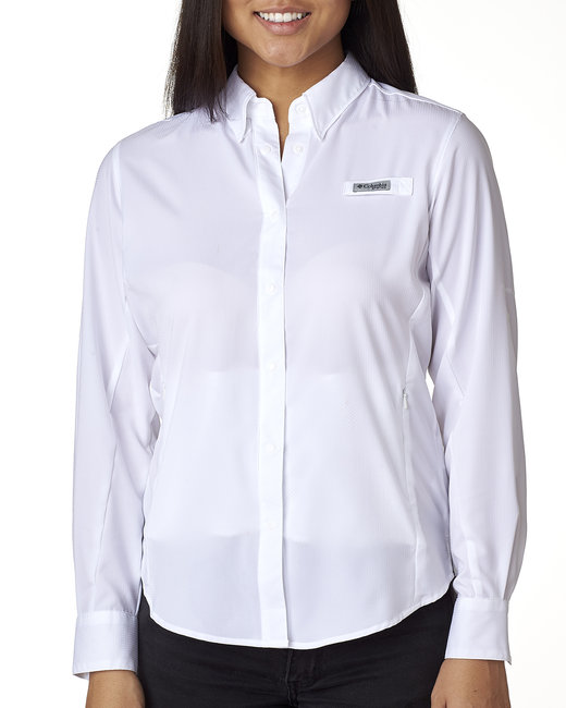 Columbia Ladies' Tamiami� II Long-Sleeve Shirt - White