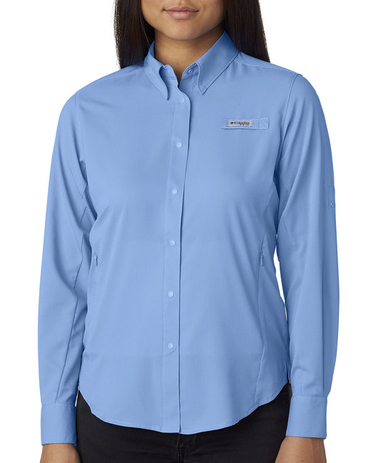 Columbia Ladies' Tamiami� II Long-Sleeve Shirt - White Cap Blue