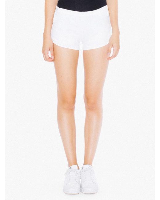 American Apparel Ladies' Interlock Running Shorts - White