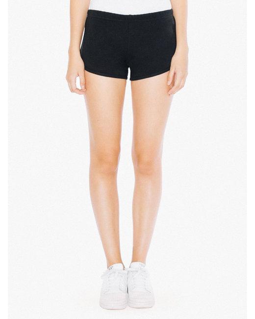 American Apparel Ladies' Interlock Running Shorts - Black