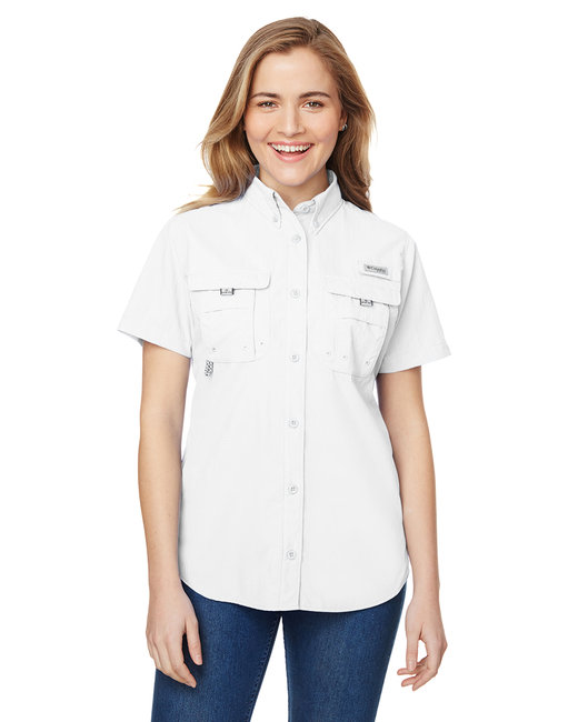 Columbia Ladies' Bahama� Short-Sleeve Shirt - White