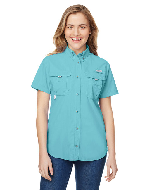 Columbia Ladies' Bahama� Short-Sleeve Shirt - Clear Blue