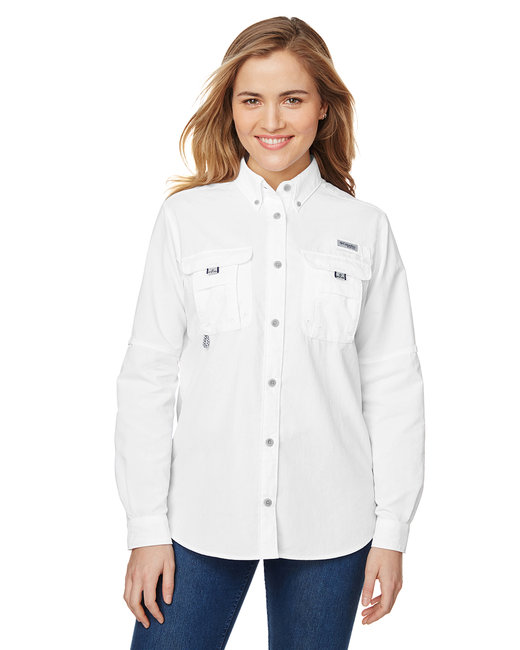 Columbia Ladies' Bahama� Long-Sleeve Shirt - White