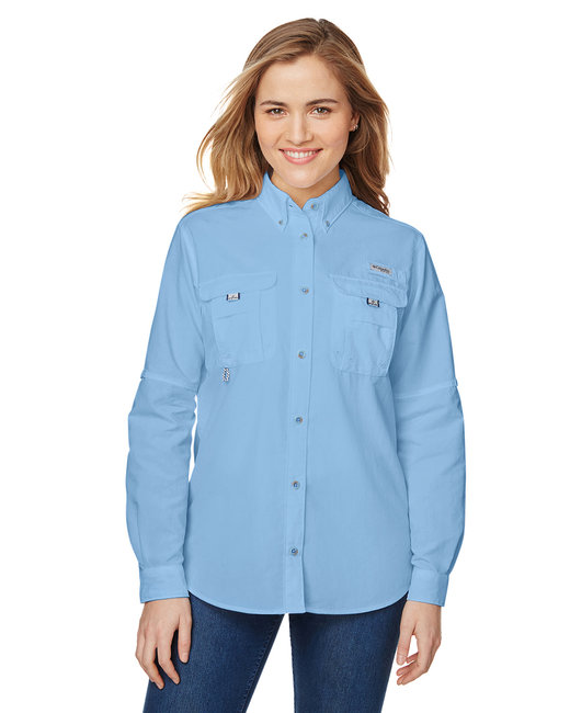 Columbia Ladies' Bahama� Long-Sleeve Shirt - White Cap Blue