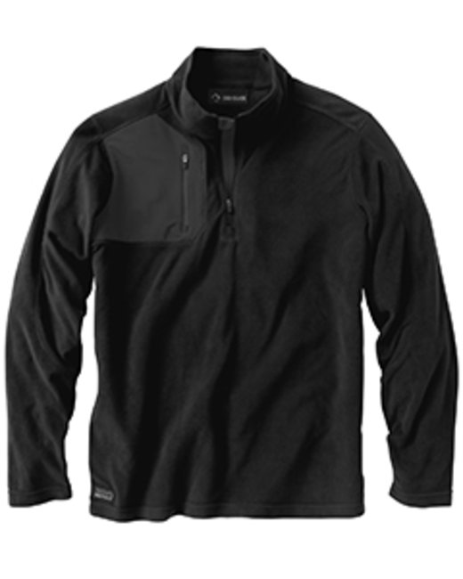 Dri Duck Men's 100% Polyester Nano Fleece TM 1/4 Zip Interval Pullover - Black
