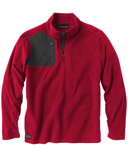 Dri Duck Men's 100% Polyester Nano Fleece TM 1/4 Zip Interval Pullover - Red