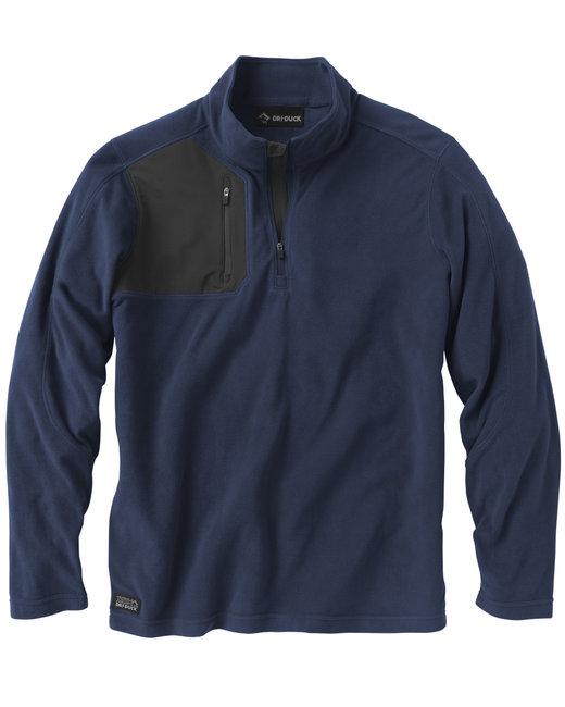 Dri Duck Men's 100% Polyester Nano Fleece TM 1/4 Zip Interval Pullover - Navy